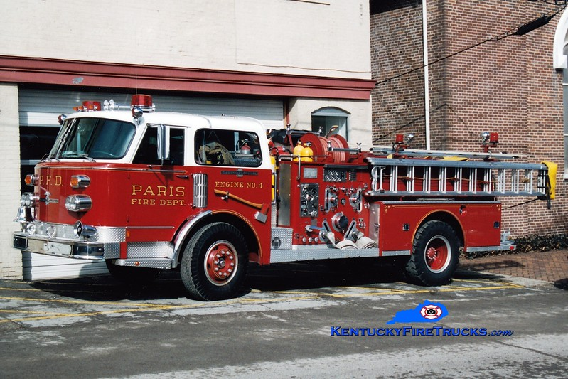 <center> RETIRED <br> Paris  Engine 4  <br> 1986 American LaFrance Century 1250/500  <br> Greg Stapleton photo </center>