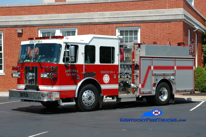 <center> Ashland  Rescue 4 <br> 2008 Sutphen Shield 1750/500 <br> Greg Stapleton photo <br> </center>