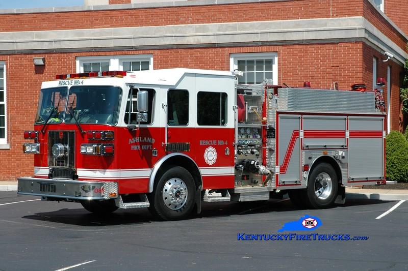 <center> Ashland  Rescue 4 <br> 2008 Sutphen Shield 1750/500 <br> Greg Stapleton photo <br> </center>