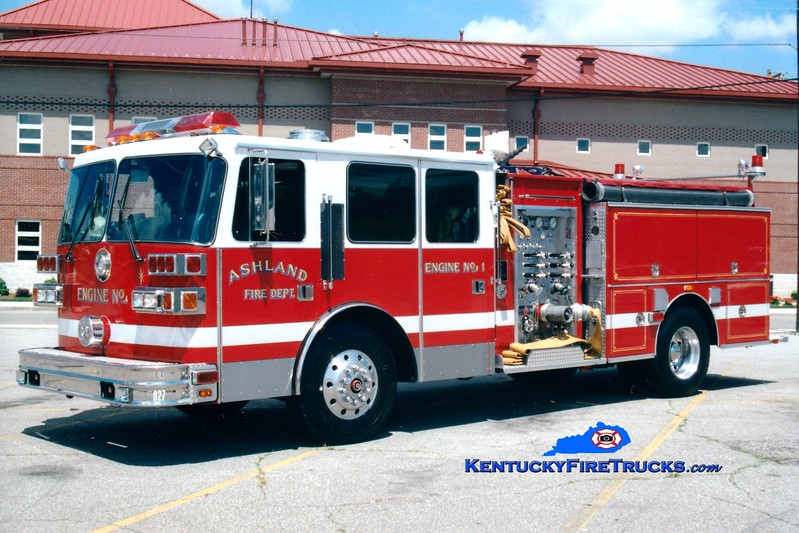 <center> Ashland  Engine 1 <br> 1993 Sutphen 1500/500 <br> Greg Stapleton photo <br> </center>