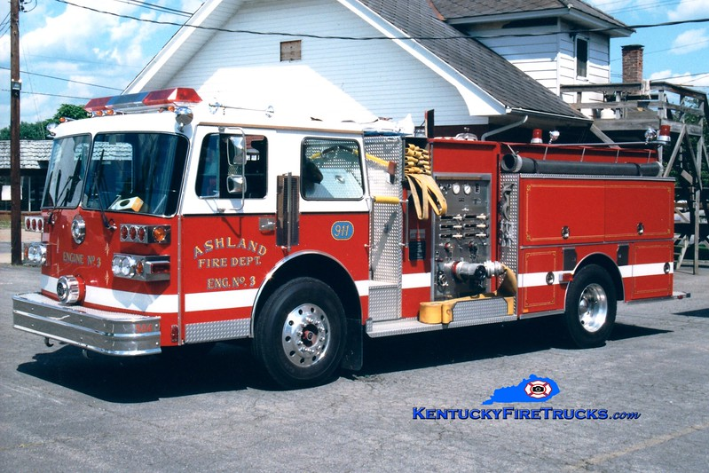 <center> Ashland  Reserve Engine 5 <br> 1988 Sutphen Deluge 1500/750 <br> Greg Stapleton photo <br> </center>