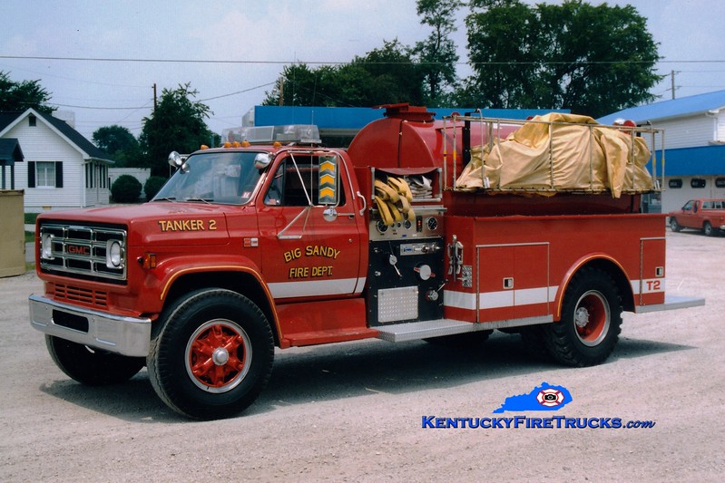 <center> RETIRED <br> Big Sandy  Tanker 2 <br> 1984 GMC/Allegheny 500/1800 <br> Greg Stapleton photo </center>