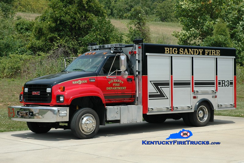 <center> RETIRED <br> Big Sandy  Rescue 3 <br> 1997 GMC 5500/3-D <br> Greg Stapleton photo </center>