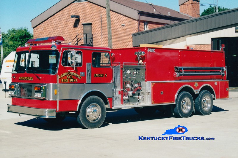 <center> Cannonsburg  Engine 5  <br> 1986 Pemfab/FMC 1000/2500 <br> Greg Stapleton photo </center>
