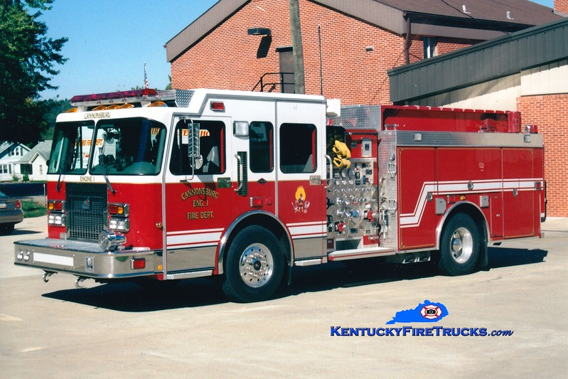 <center> Cannonsburg  Engine 1  <br> 2000 Spartan Gladiator/Smeal 1500/1000 <br> Greg Stapleton photo </center>
