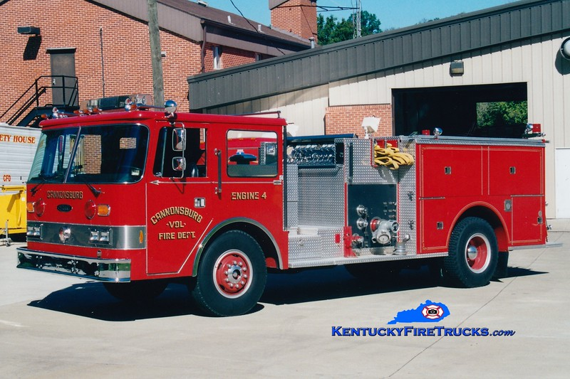<center> Cannonsburg  Engine 4  <br> 1980 Pierce Arrow 1500/750 <br> Greg Stapleton photo </center>