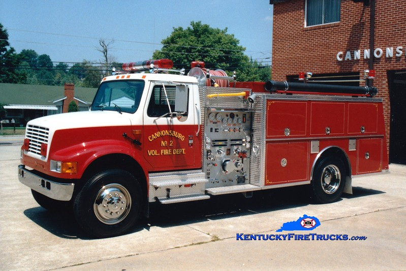 <center> Cannonsburg  Engine 2  <br> 1990 International 4900/KME 1250/1000 <br> Greg Stapleton photo </center>