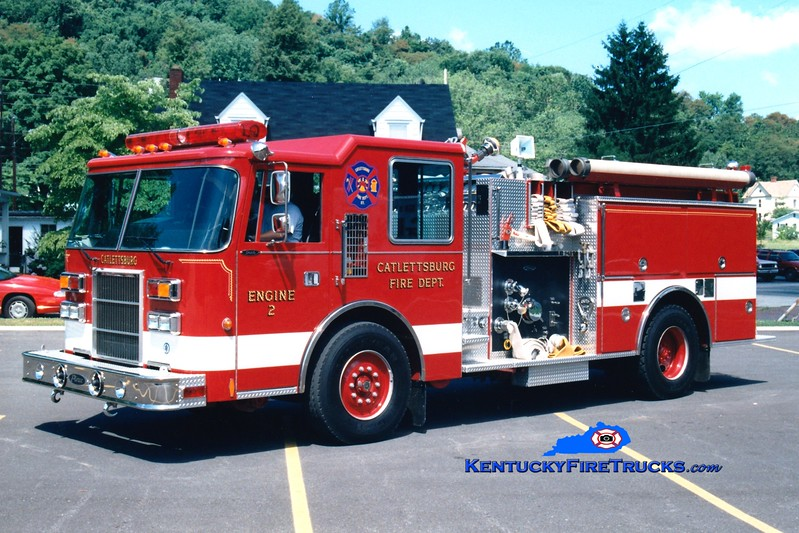<center> Catlettsburg  Engine 2  <br> 1993 Pierce Dash 1500/500 <br> Greg Stapleton photo </center>