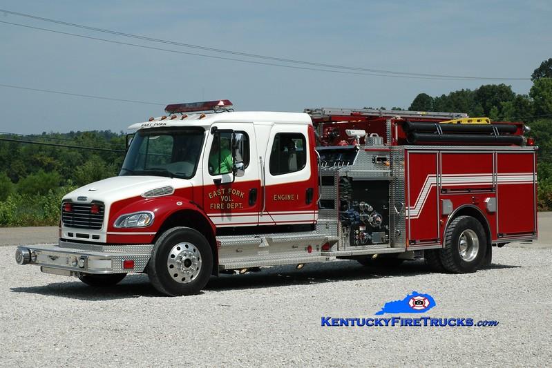 <center> East Fork  Engine 1 <br> 2007 Freightliner M2-106/Pierce 1250/1250 <br> Greg Stapleton photo </center>