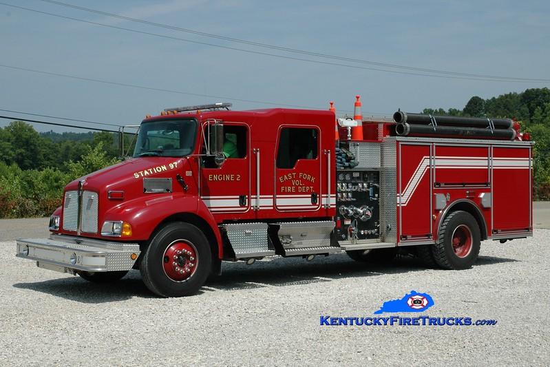 <center> East Fork  Engine 2 <br> 2007 Kenworth T-300/Pierce 1250/1000 <br> Greg Stapleton photo </center>
