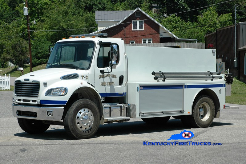 <center> England Hill  Tanker 2 <br> 2011 Freightliner M2-106/Danko 300/2000 <br> Greg Stapleton photo <br> </center>