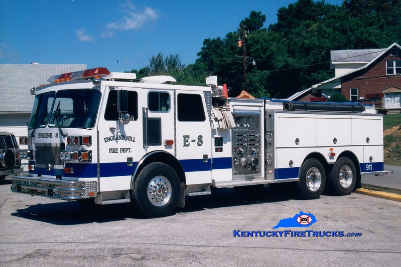 <center> England Hill  Engine 8 <br> 1993 Sutphen 1500/1500 <br> Greg Stapleton photo <br> </center>