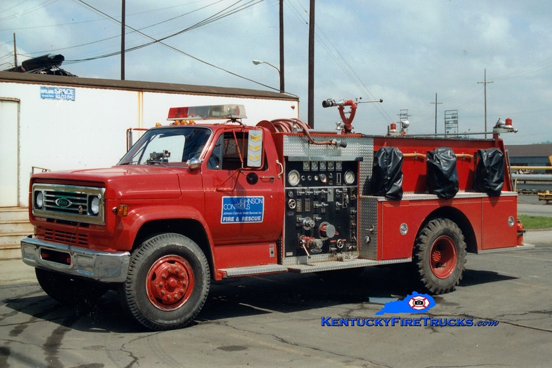 <center> Johnson Controls/AK Steel Engine 1 <br> 1979 GMC/Pierce 750/500/25 <br> Greg Stapleton photo </center>