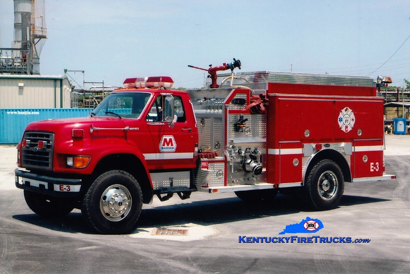 <center> Marathon Oil Catlettsburg Refinery  Engine 3 <br> 1998 Ford F-800/E-One 1250/1000/60  <br> Greg Stapleton <br> </center>