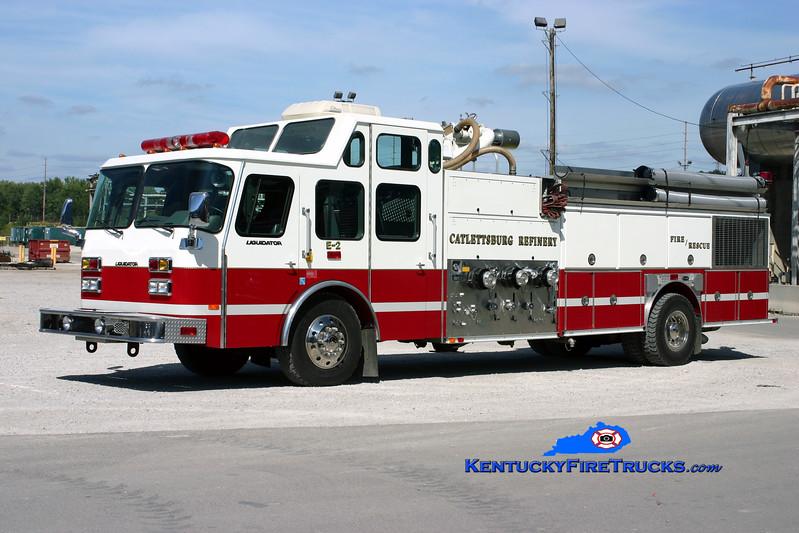 <center> Marathon Oil Catlettsburg Refinery  Engine 2 <br> 1996 E-One Hush Liquidator 6000/750F <br> Kent Parrish photo <br> </center>