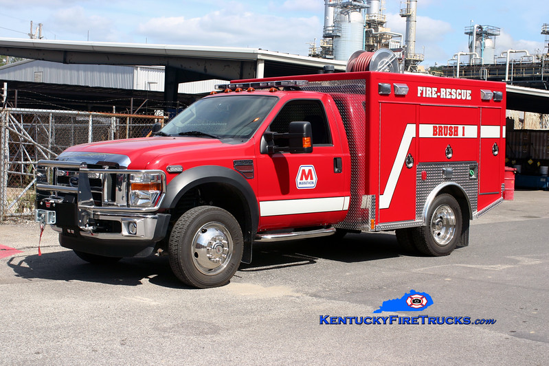 <center> Marathon Oil Catlettsburg Refinery  Brush 1 <br> 2008 Ford F-550 4x4/Freedom Fire 250/300 <br> Kent Parrish photo <br> </center>