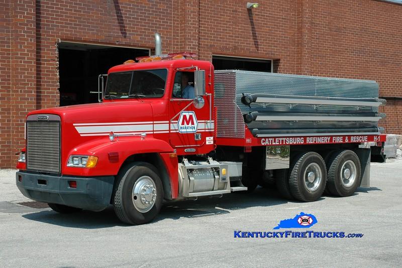 <center> Marathon Oil Catlettsburg Refinery  Hose 1 <br> 1996 Freightliner/Hazlit/FD 8000' LDH <br> Greg Stapleton <br> </center>