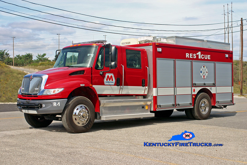 <center> Marathon Oil Catlettsburg Refinery  Rescue 1 <br> 2007 International 4400/Pierce  <br> Kent Parrish photo <br> </center>