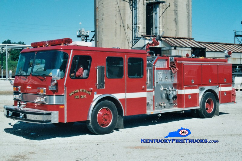 RETIRED<br /> Ashland Oil Catlettsburg Refinery Engine 1<br /> 1992 E-One Cyclone 2000/1000F<br /> Greg Stapleton photo