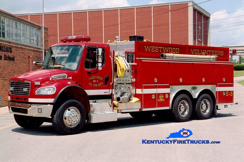<center> Westwood  Engine 3 <br> 2003 Freightliner M2-106/E-One 1250/3000 <br> Greg Stapleton photo <br> </center>