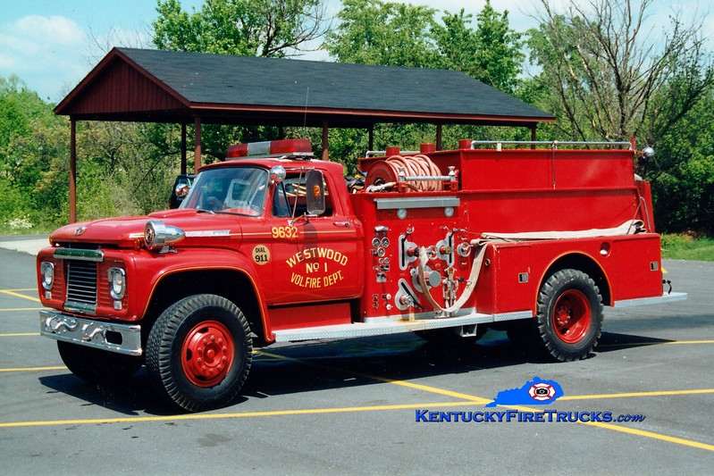 <center> RETIRED <br> Westwood  Engine 9632 <br> 1961 Ford F/American LaFrance 500/1000 <br> Greg Stapleton photo <br> </center>