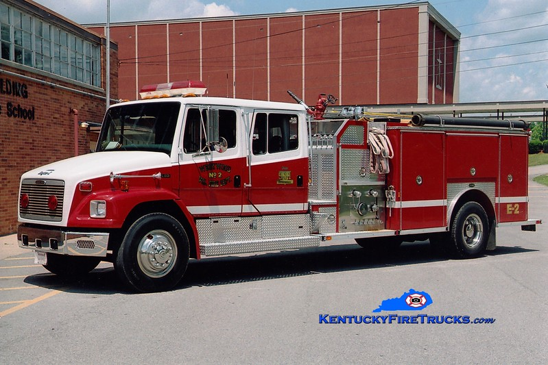 <center> Westwood  Engine 2 <br> 1996 Freightliner FL80/E-One 1500/1000 <br> Greg Stapleton photo <br> </center>