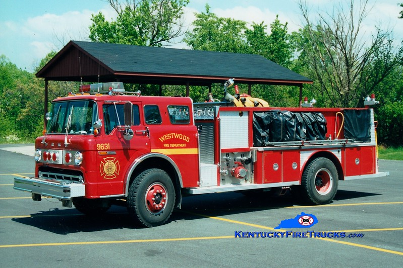 <center> RETIRED <br> Westwood  Engine 9631 <br> 1978 Ford C/E-One 1000/1000 <br> Greg Stapleton photo <br> </center>