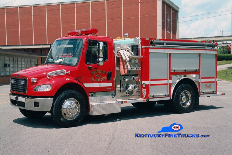 <center> Westwood  Engine 4 <br> 2003 Freightliner M2-106/E-One 1250/1000 <br> Greg Stapleton photo <br> </center>