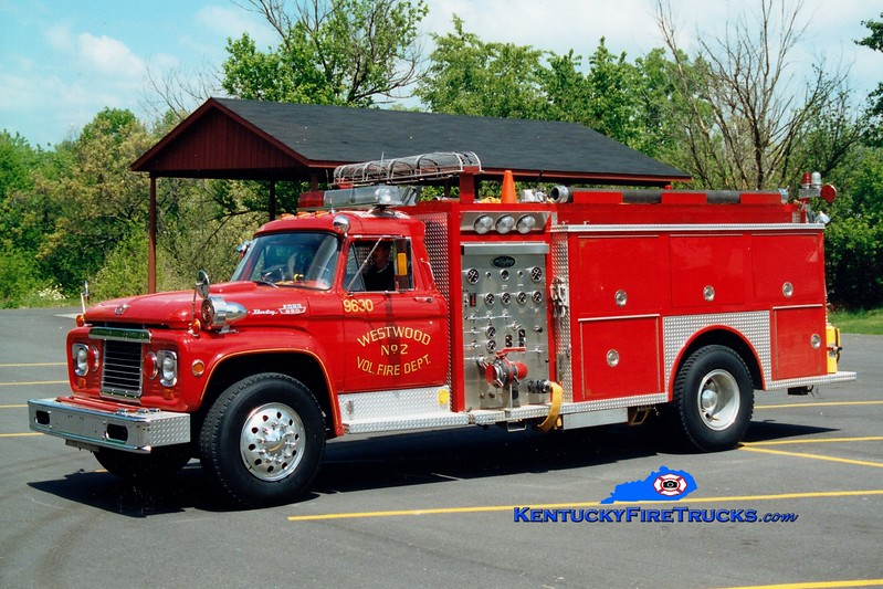 <center> RETIRED <br> Westwood  Engine 9630 <br> 1965 Ford F/1985 Allegheny 500/1000 <br> Greg Stapleton photo <br> </center>