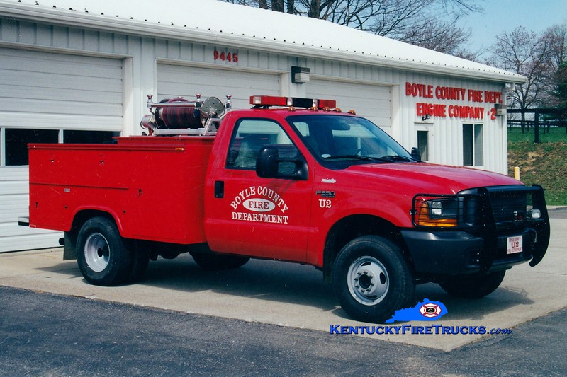 <center> Boyle County  Utility/Brush 2<br> 1999 Ford F-350 4x4/Mertz 250/250 <br> Greg Stapleton photo </center>