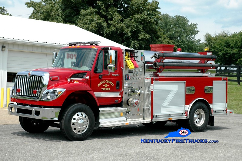 <center> *Reassigned to Company 1 <br> Boyle County  Tanker 2 <br> 2013 International 7500/Southeast 750/2000 <br> Greg Stapleton photo </center>