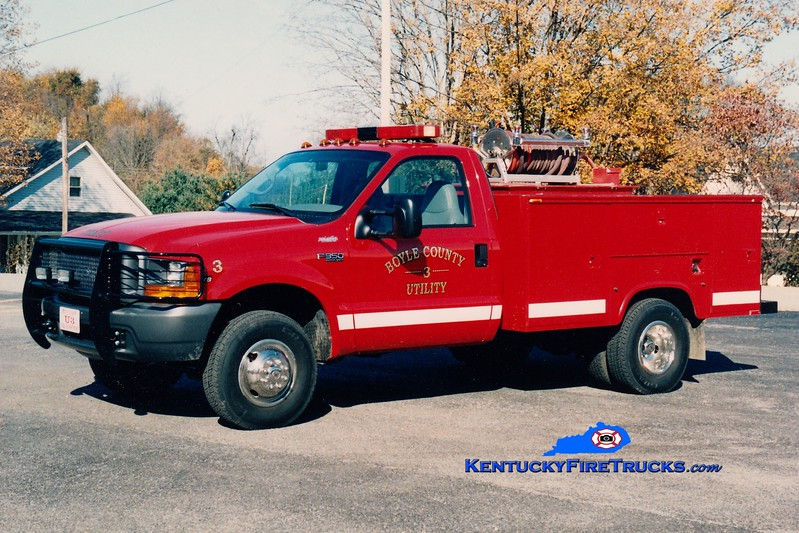 <center> Boyle County  Utility/Brush 3<br> 1998 Ford F-350 4x4/Marco 250/250 <br> Greg Stapleton photo </center>