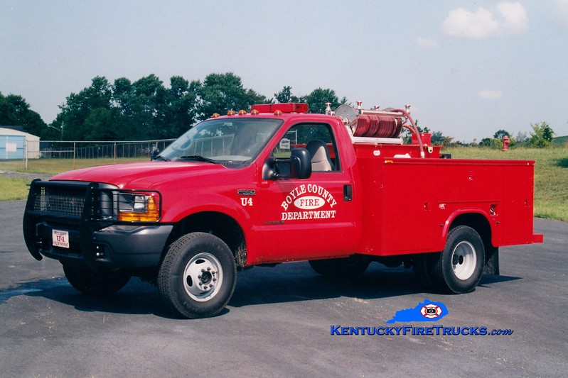<center> Boyle County  Utility/Brush 4<br> 1999 Ford F-350 4x4/Mertz 250/250 <br> Greg Stapleton photo </center>
