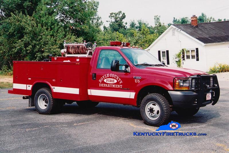 <center> Boyle County  Utility/Brush 5<br> 1999 Ford F-350 4x4/Mertz 250/250 <br> Greg Stapleton photo </center>