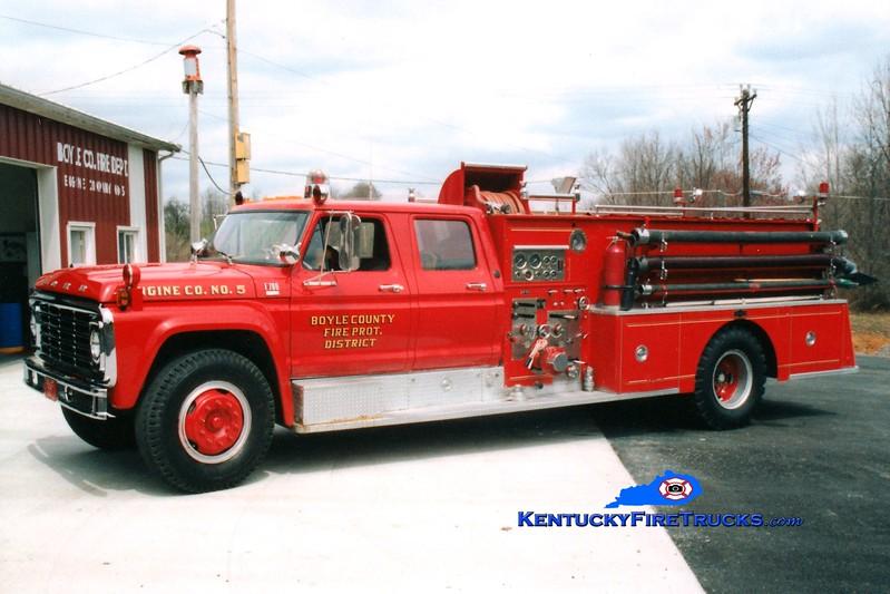 <center> RETIRED <br> Boyle County  Engine 5 <br> 1978 Ford F-750/Pirsch 750/1000 <br> Greg Stapleton photo </center>