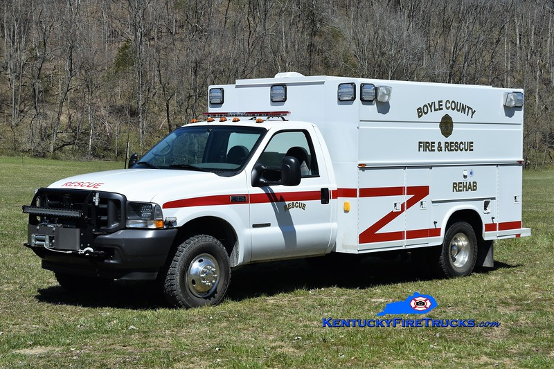 Boyle County  Rescue 6<br /> x-Hazmat Unit and Rescue 4<br /> 2002 Ford F-350 4x4/Knapheide<br /> Greg Stapleton photo