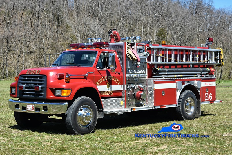 Boyle County  Engine 6<br /> 1998 Ford F-800/E-One 1250/1000<br /> Greg Stapleton photo