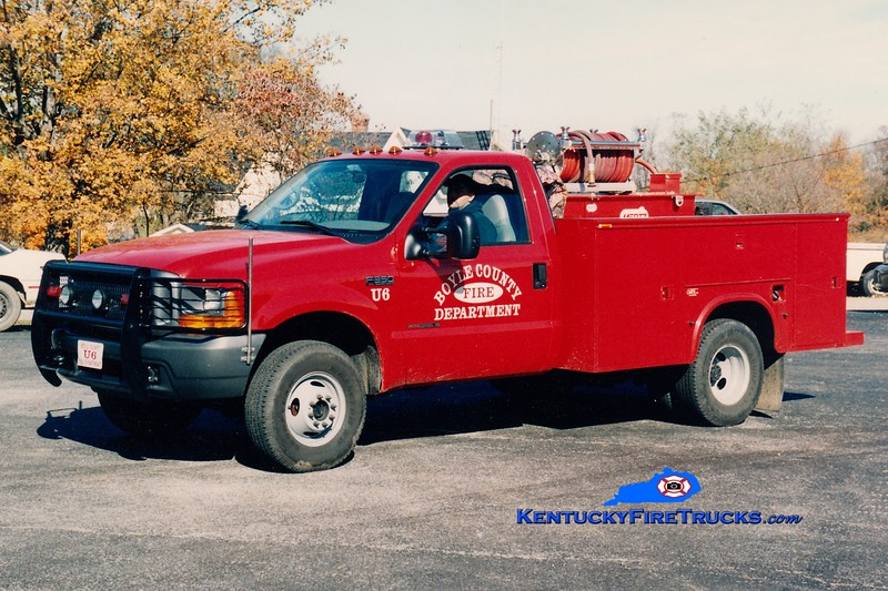 <center> Boyle County  Utility/Brush 6<br> 1999 Ford F-350 4x4/Mertz 250/250 <br> Greg Stapleton photo </center>
