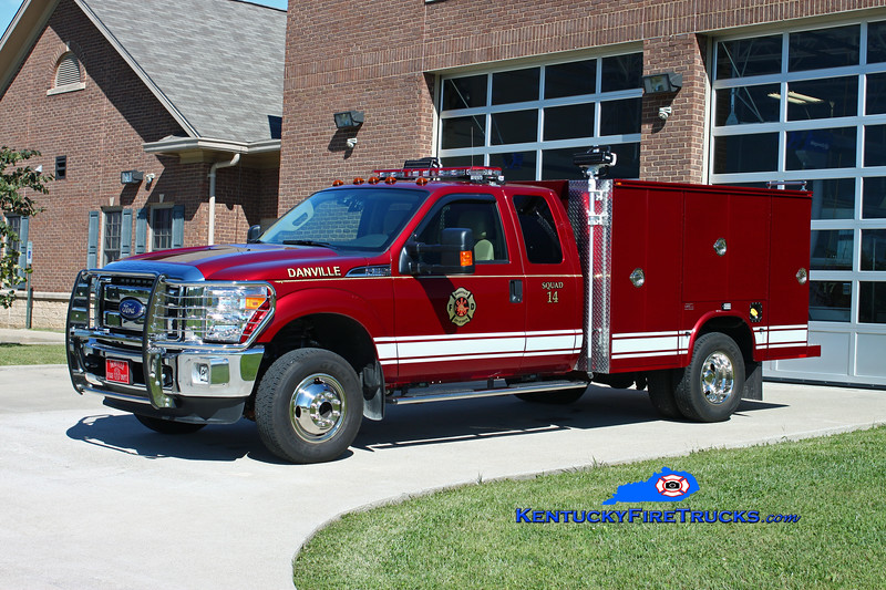 <center> Danville  Squad 14  <br> 2013 Ford F-550 4x4/Knapheide/Southeast <br> Kent Parrish photo </center>