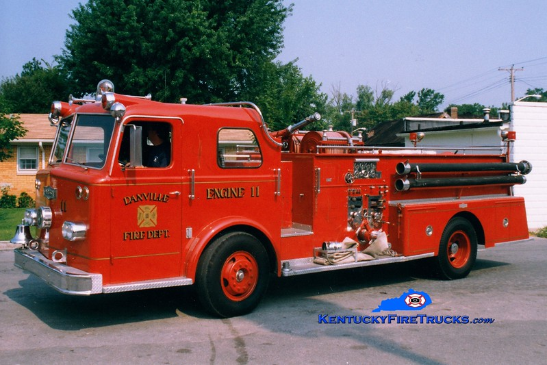<center> RETIRED <br> Danville  Engine 11  <br> 1964 Pirsch 1000/300 <br> Greg Stapleton photo </center>