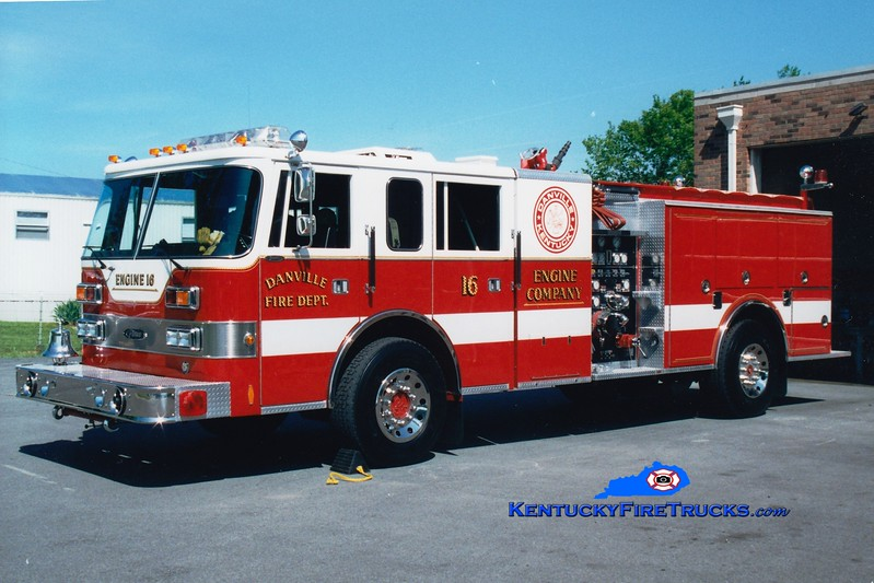 <center> RETIRED <br> Danville  Engine 16  <br> 1990 Pierce Javelin 1500/750 <br> Greg Stapleton photo </center>
