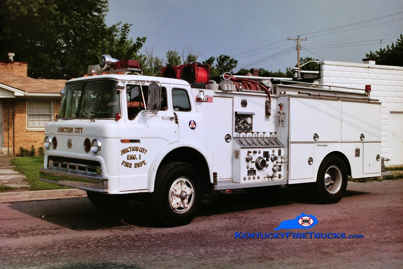 RETIRED <br /> Junction City Engine 1 <br /> 1975 Ford C/Jaco 750/750 <br /> Greg Stapleton photo