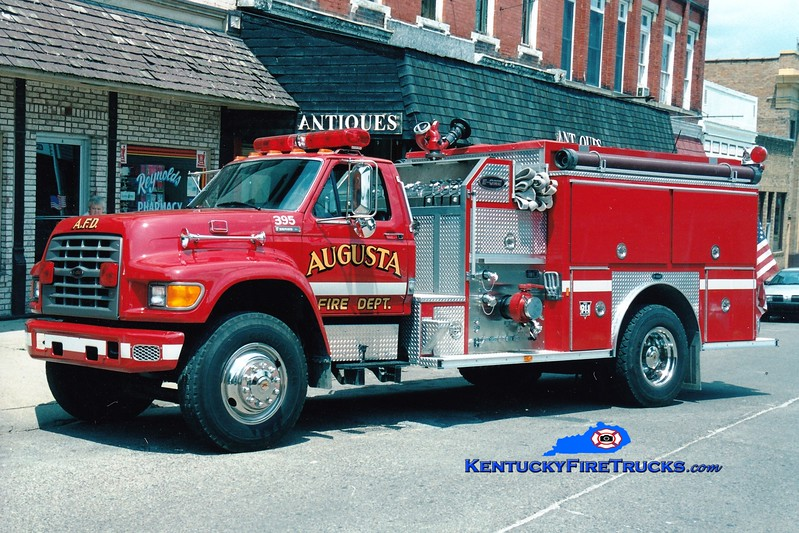 <center> RETIRED <br> Augusta  Engine 395  <br> 1995 Ford F-750/E-One 1250/1000 <br> Greg Stapleton photo </center>
