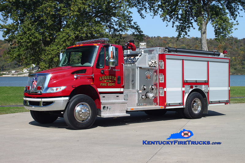 <center> Augusta  Engine 395  <br> 2009 International 4400/E-One  1250/1000 <br> Kent Parrish photo </center>