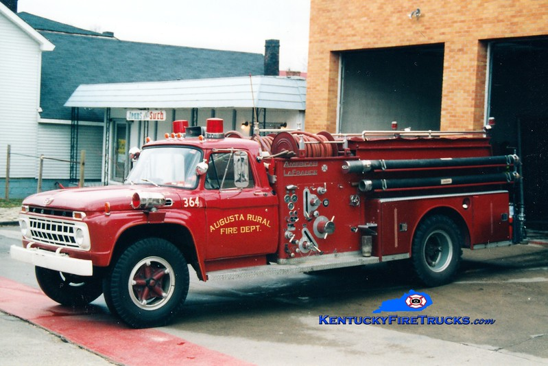 <center> RETIRED <br> Augusta  Engine 374 <br> 1964 Ford F/American LaFrance 750/500 <br> Greg Stapleton photo <br> </center>