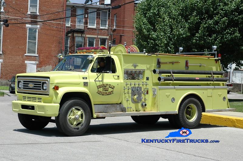 <center> Brooksville  Pumper 3 <br> 1977 Chevy/Allegheny 750/750 <br> Greg Stapleton <br> </center>