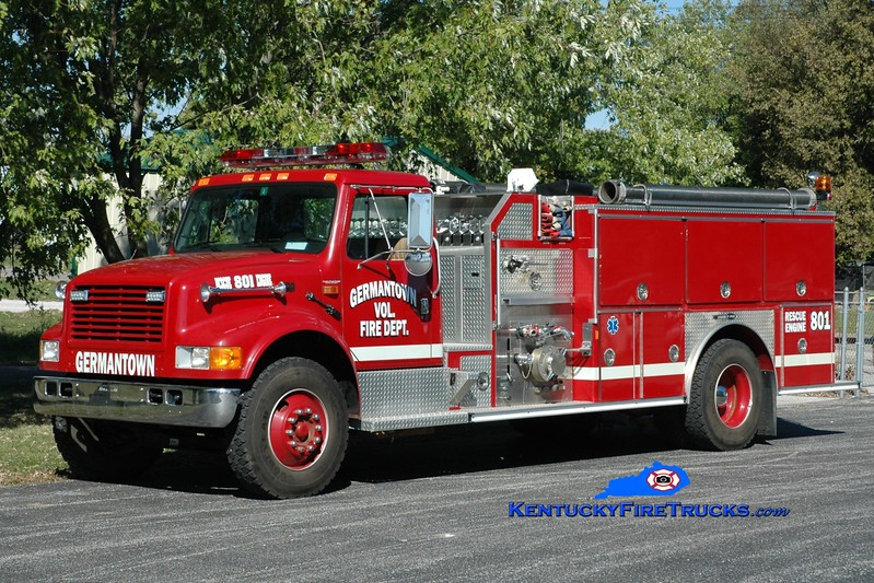 Germantown  Engine 801<br /> x-Rochester, VT <br /> 1994 International 4900/E-One 1250/1000<br /> Greg Stapleton photo