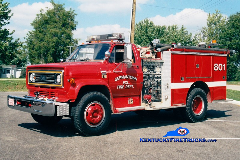 <center> RETIRED <br> Germantown  Engine 801 <br> 1980 Chevy C70/Pierce 750/750<br> Greg Stapleton photo </center>
