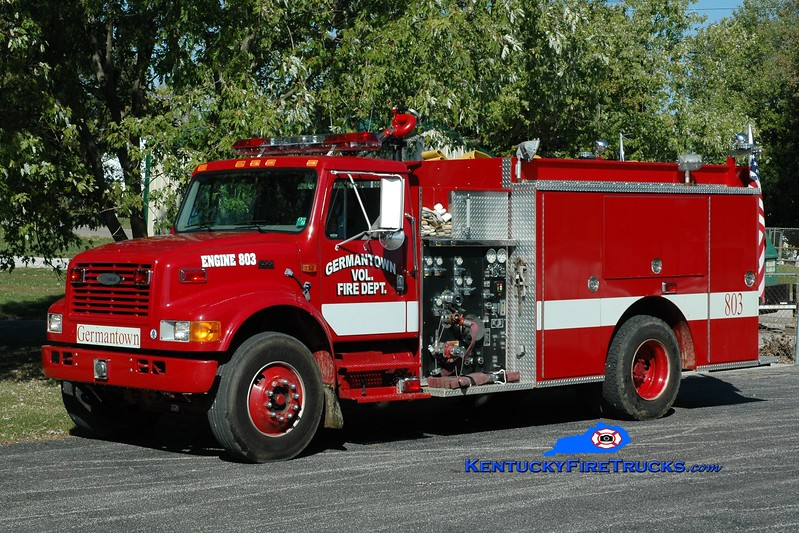 Germantown  Engine 803<br /> 1999 International 4900/Pierce 1250/1000<br /> Greg Stapleton photo