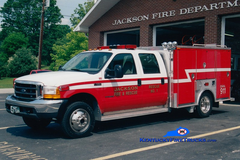 <center> Jackson  Rescue 1 <br> 2000 Ford F-550 4x4/Chiefs Fire & Rescue <br> Greg Stapleton photo <br> </center>